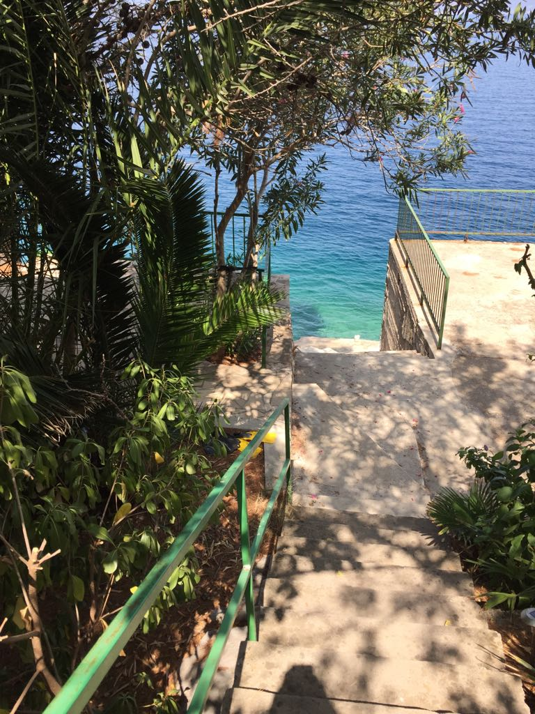 Stair Access to the Private Beach