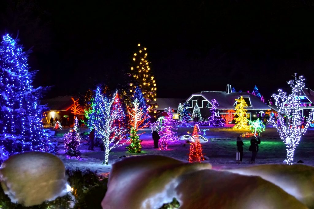 Fully Adorned in Twinkling Vibrant Christmas Decorations (Salajland - Christmas Tale Park)