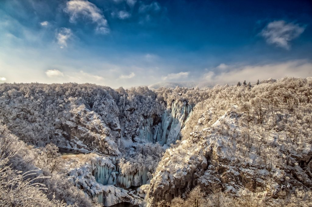 National Park Plitvice Lakes in Winter