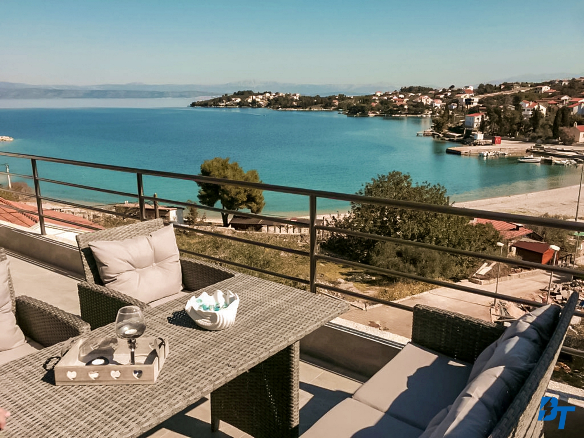 Enjoy Watching VIews of Nečujam and the Sea While Sitting on the Terrace