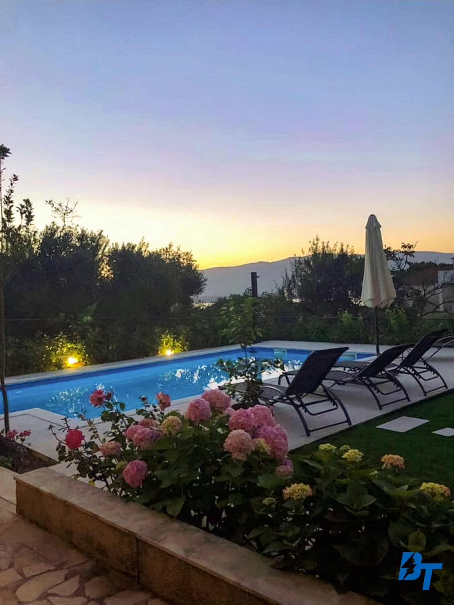 Admire the Beautiful Sunsets from the Garden and Pool